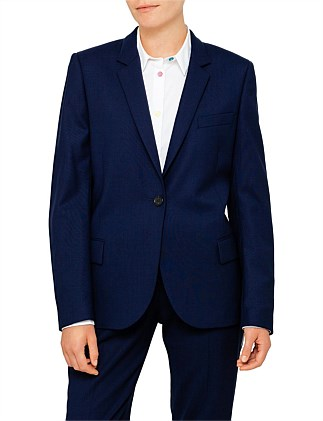 1 BUTTON WOOL BLAZER