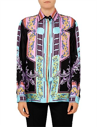 141a61bd3af8 Long Sleeve Silk Button Up Shirt. Versace Collection