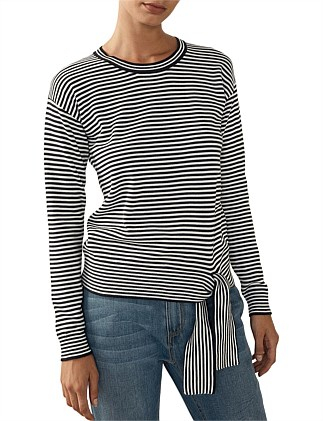 Cotton Tie Striped Knit
