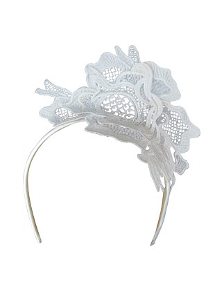 Smaller lace fascinator