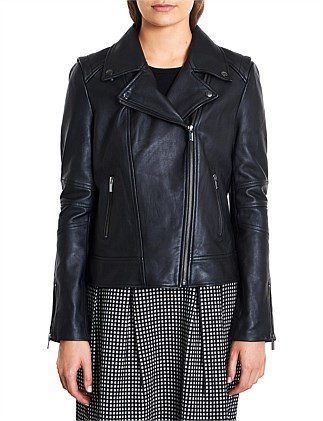 BIANCA LEATHER BIKER JACKET 2915408681