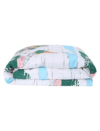 SINGLE BED FLIGHT PATH COTTON QUILT COVER