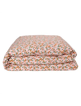 SINGLE BED THE PATCH PEACH RV GINGHAM QUILT COVER