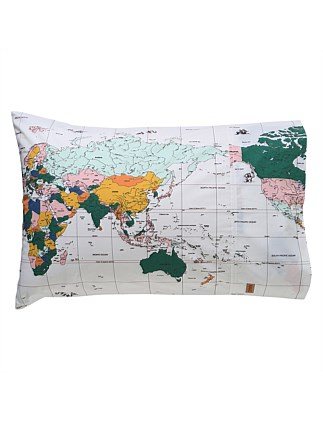 FLIGHT PATH COTTON SINGLE PILLOWCASE