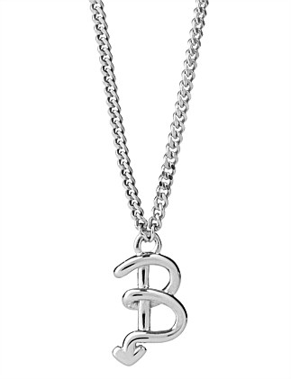 B INITIAL LOVE LETTER NECKLACE