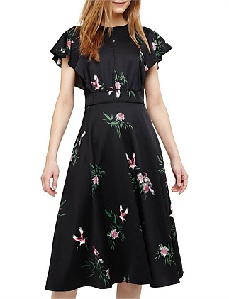 (D)GWENDOLYN FLORAL PRINT DRESS