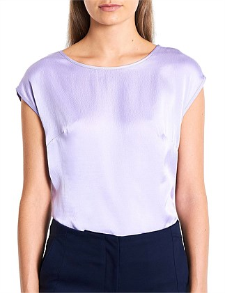 AVA HAMMERED SILK TOP
