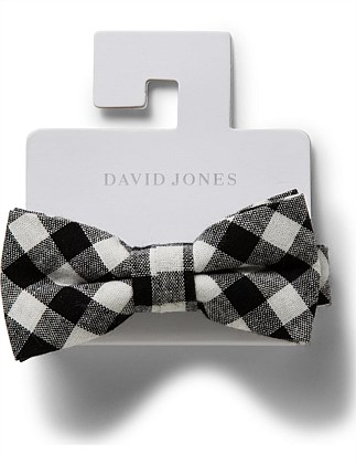 Boys Gingham Loop Bow Tie