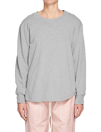 French Terry Curved Hem Sweat