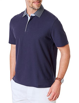 CONTRAST DETAIL PLAIN POLO