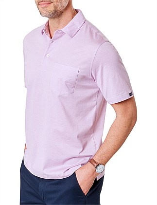 MERCERISED MICRO STRIPE POLO