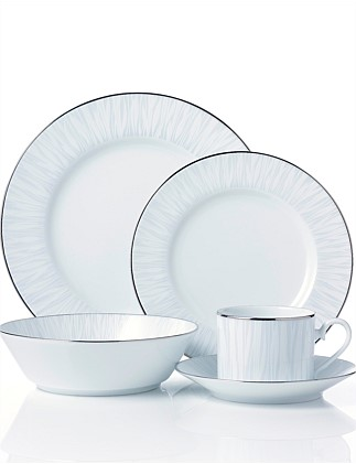 GLACIER PLATINUM 20PCE DINNER SETTING FOR 4