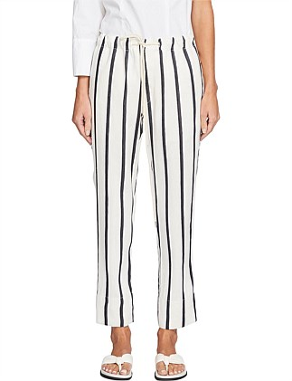 Stripe Linen Pull On Pant