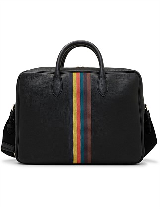 EMBROIDED BRIGHT STRIPE FOLIO BAG