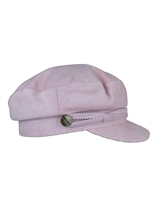 910d021bebc5 Cord baker boy hat. GREY  PINK  SAND