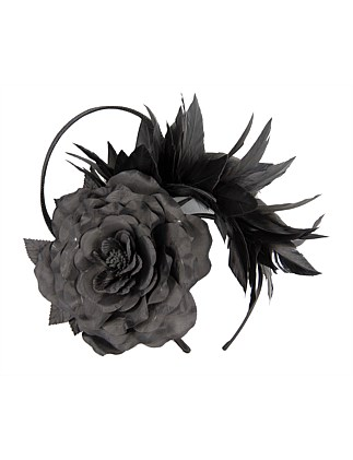 FLOWER AND FEATHER FASCINATOR