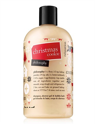 Christmas Cookie Shampoo, Btah and Shower Gel 480ml