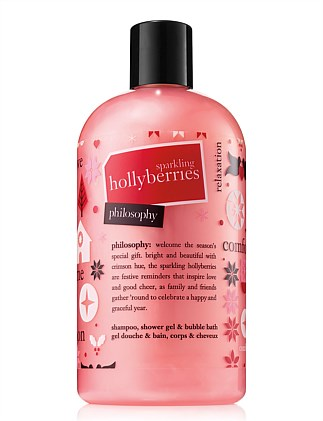 Sparkling Hollyberries shampoo, bath and shower gel 480ml