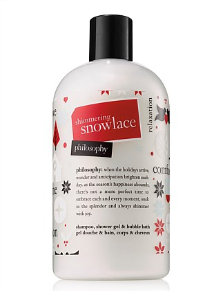 Shimmering Snow Lace shampoo, bath and shower gel 480ml