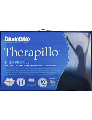 THERAPILLO HIGH PROFILE MEMORY FOAM COOLING GEL PILLOW