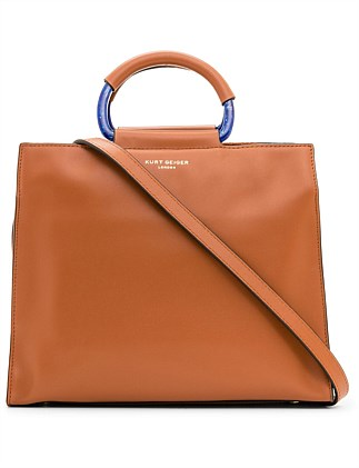 LEATHER HARRIET BOX TOTE
