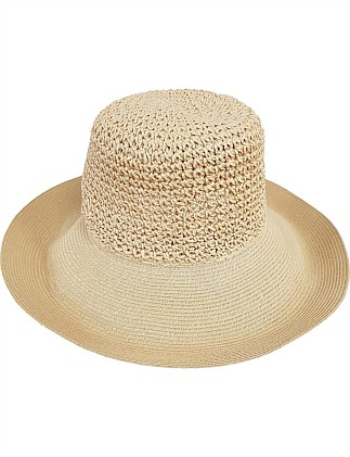 FOLDABLE SUN HAT WITH ADJUSTABLE BRIM