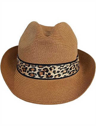 FEDORA WITH LEOPARD TIME BAND