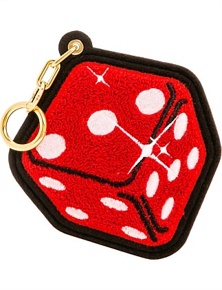 RED DICE CHENILLE BAG CHARM