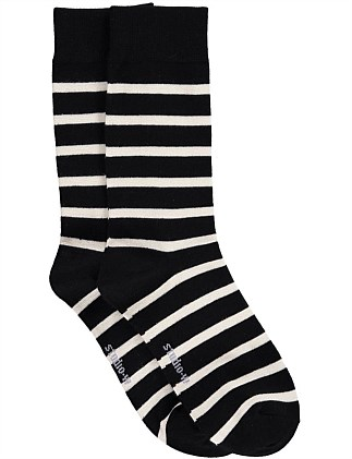 Striped Bamboo Blend Socks