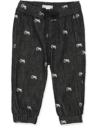 Embroidered Tractor Pant