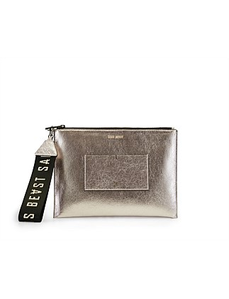 POSTCARD POUCH METALLIC CRUSH