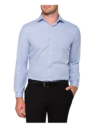9038624536f66 DOBBY CHECK EURO FIT SHIRT ...