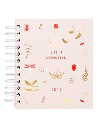 2019 Weekly Diary Small Wonderful