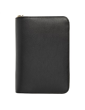 Leather Personal Zip Planner Medium Ess