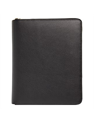 Leather Personal Zip Planner Large Ess