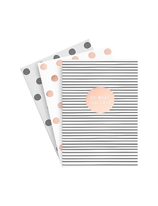 A5 Essential Notebooks 3Pk So Lovely