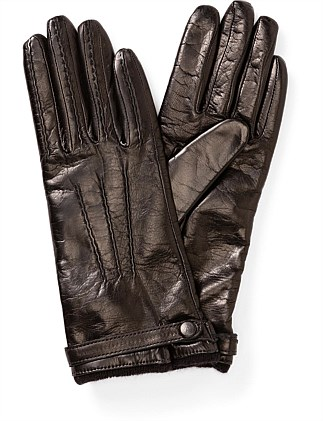 PULLED BUTTON UP LEATHER GLOVE