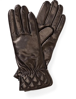 QUILTED CUFF LEATHER GLOVE