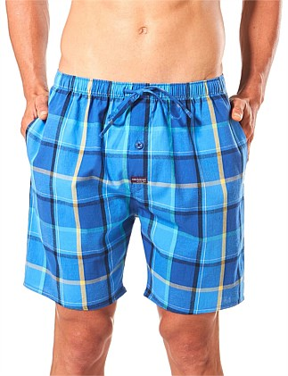 AJAX CHECK YARN DYED WOVEN SLEEP SHORT