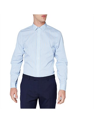 LS STRIPE GINGHAM CAMDEN SHIRT