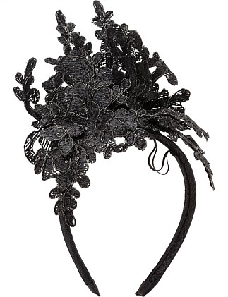 LACE CUTOUT ON HEADBAND