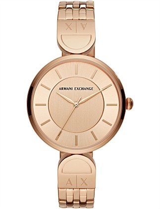 Armani Exchange Women's Rose Gold-Tone Watch