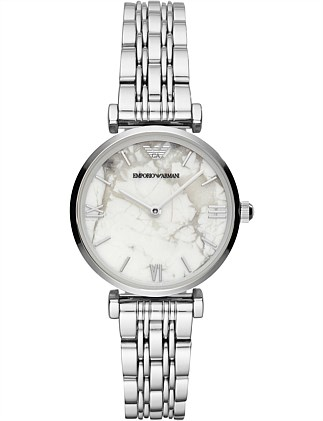 Emporio Armani Women's Silver-Tone Watch