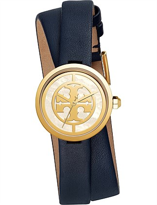 Tory Burch The Reva Navy Watch