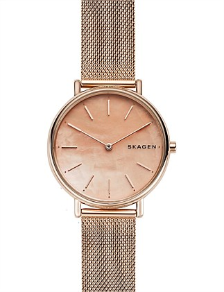 Skagen Signatur Rose Gold-Tone Watch