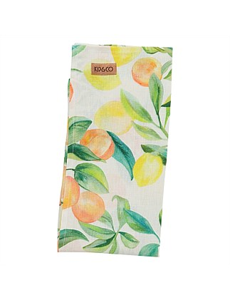 Peach Punch Linen Tea Towel