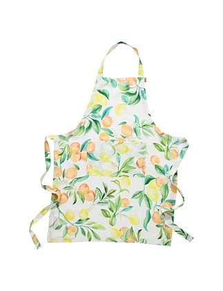 Peach Punch Linen Apron
