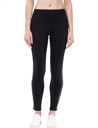 HIGH WAIST FULL LENGTH JERSEY LEGGING W/ SIDE LOGO ELASTIC