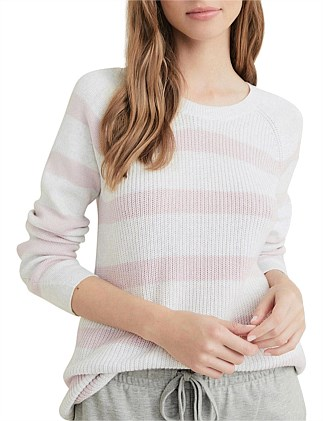 Raglan Wide Stripe Knit
