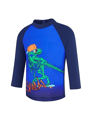 Gnarly Dino LS Rashie/Gnarly Dino (Boys 2-7 Yrs)